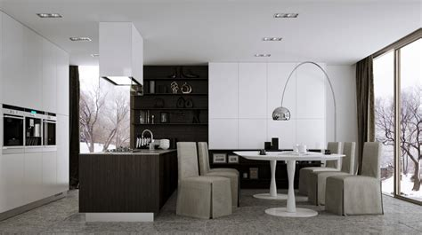 modern kitchen and dining room design 12 modern eat in kitchen designs