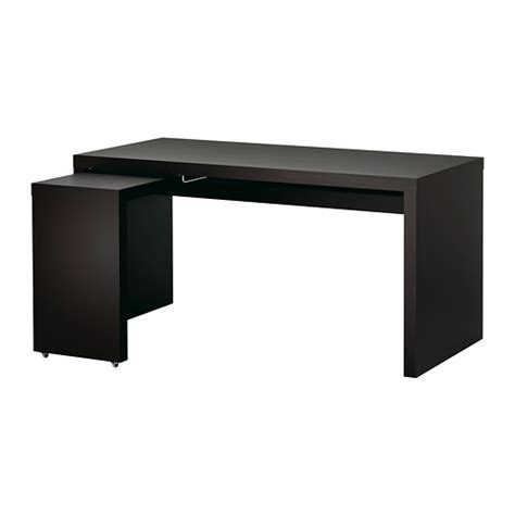 ikea black computer desk malm desk with pull out panel black brown ikea