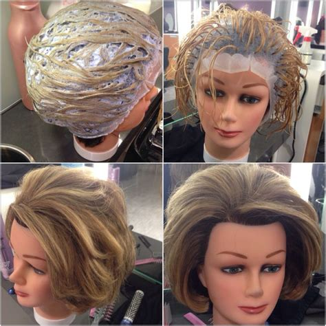 highlights vs frosting of hair cap highlights i did on my mannequin hair by stephanie