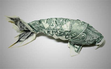 fish dollar origami 20 cool exles of dollar bill origami bored panda