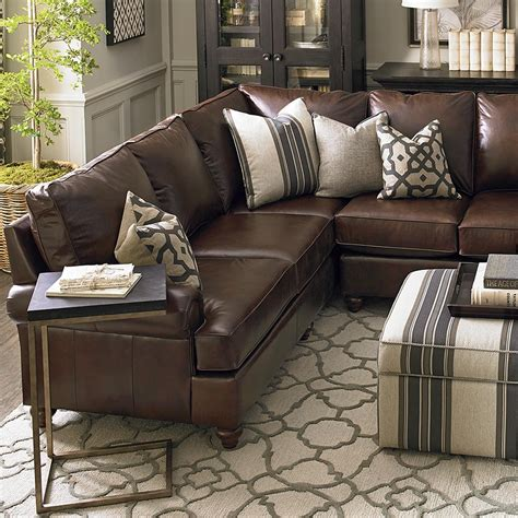 brown leather sofa sectional leather montague l shaped sectional