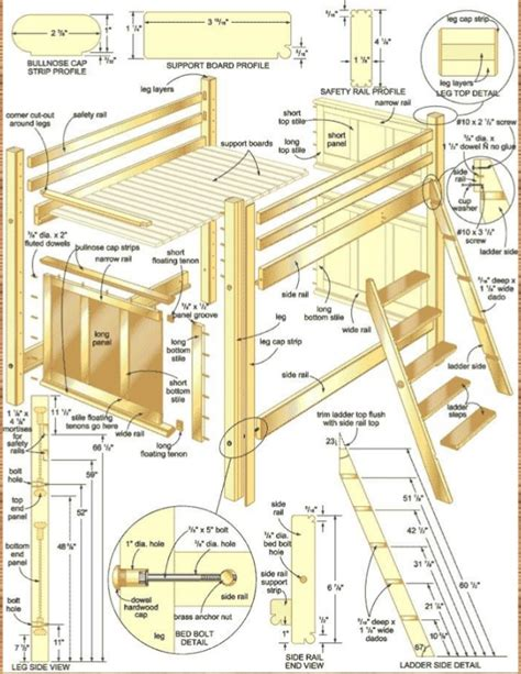 plans for bunk bed bunk bed stairs plans