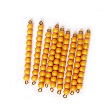 bead bar golden bead bars of ten individual x 9 a2z