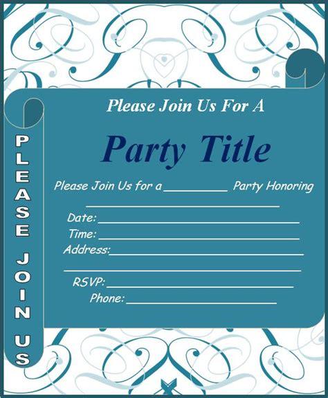 template for invitation invitation templates free word s templates
