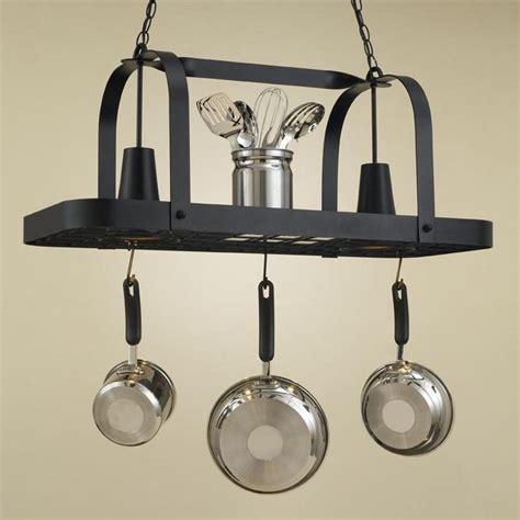 lighted hanging pot racks kitchen baker collection hanging pot rack www