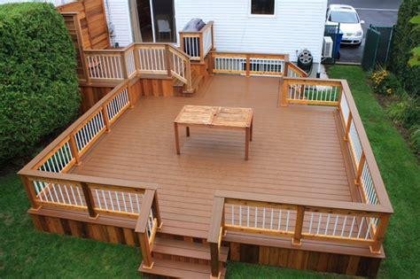 deck to patio designs patio deck design 174 contemporary deck montreal