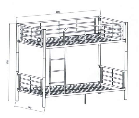 dimensions of bunk beds bunk bed dimensions sketch coloring page