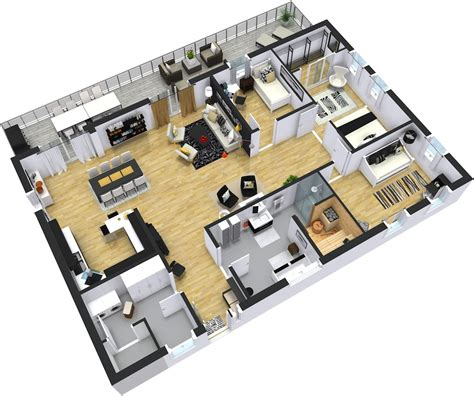 2d Floor Plan In modern floor plans roomsketcher