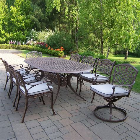 patio furniture clearance lowes furniture shop garden treasures tucker bend brown steel