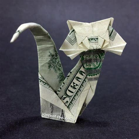 dollar bill origami cat hundred dollar bill origami cat unique gift animal pet