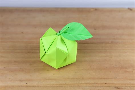 origami apple how to make a 3d origami apple
