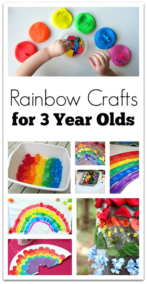 crafts for four year olds rainbow crafts for 3 year olds no time for flash cards