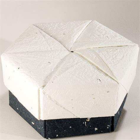 hexagonal origami gift box decorative hexagonal origami gift box with lid 20