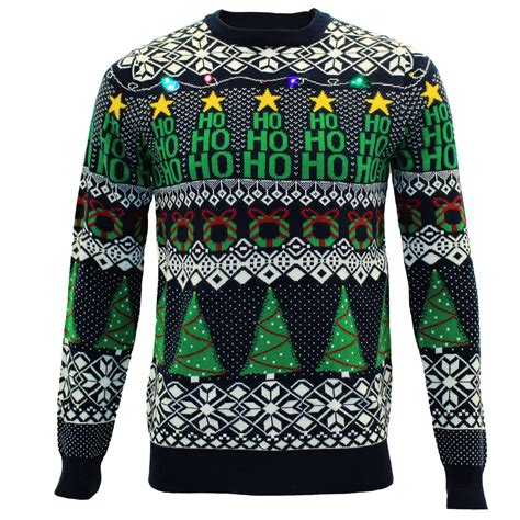 mens light up sweaters mens novelty light up tree pullover jumper