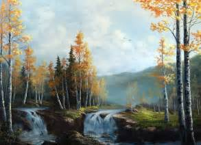 bob ross painting lessons quot birch waterfalls quot by kevin hill check out my channel on