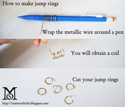 how to make jump rings for jewelry a matter of style diy fashion how to make jump rings
