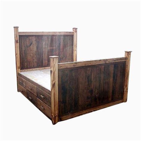 12 drawer bed frame buy a made 12 drawer rustic reclaimed wood platform