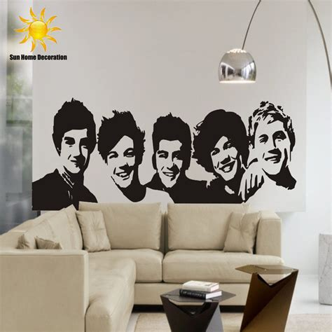 black wall stickers diy black wall sticker one direction poster bedroom
