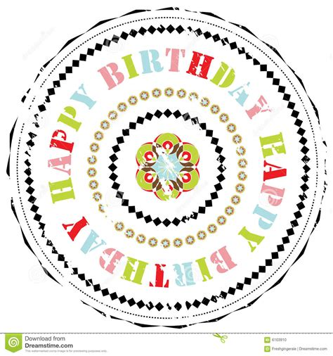 happy birthday rubber st rubber st happy birthday stock photo image 6103910