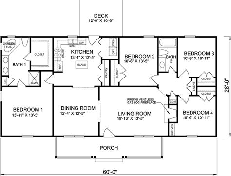 four bedroom house plans house plan 45467 at familyhomeplans