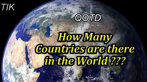 how many are there how many countries are there in the world question of