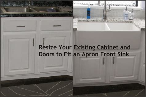 how to install an apron kitchen sink my so called diy resize your existing cabinet and