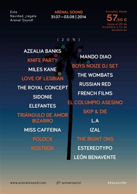 reventa entradas arenal sound 2014 arenal sound 2014 dod magazine