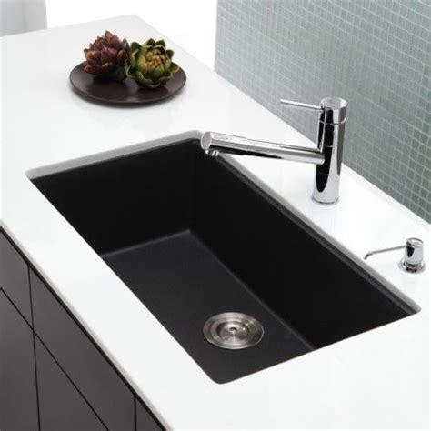 modern undermount kitchen sinks kraus 31 inch undermount single bowl black onyx granite