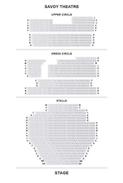 savoy floor plan savoy theatre seating plan