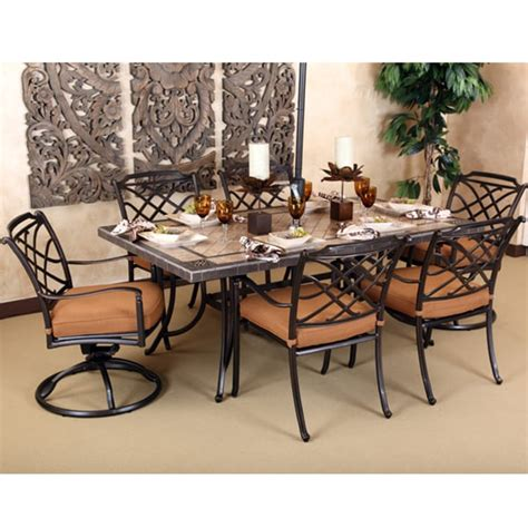 agio patio dining set 7 willowbrook aluminum patio set by agio select