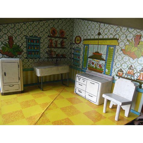 dollhouse kitchen furniture vintage kage dollhouse kitchen furniture set from