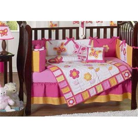 jojo butterfly crib bedding sweet jojo designs butterfly pink and orange collection