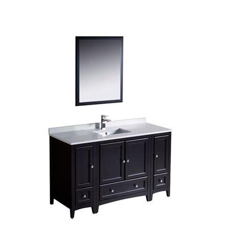 54 inch bathroom vanity 54 inch single sink bathroom vanity set solid oak wood and