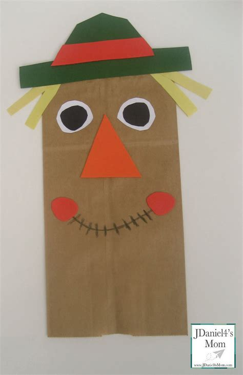paper bags crafts craft for paper bag scarecrow