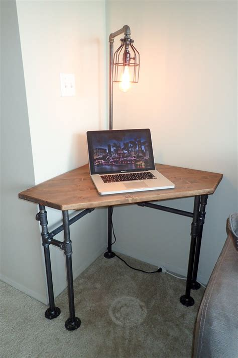 normal desk height industrial pipe corner desk pub height or normal height