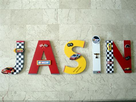 3 Letters Car Name new nascar race car wall letters custom wall letters