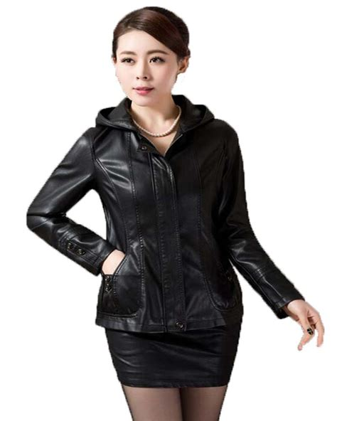 plus size leather jackets for plus size leather jacket 2016 new leather coat