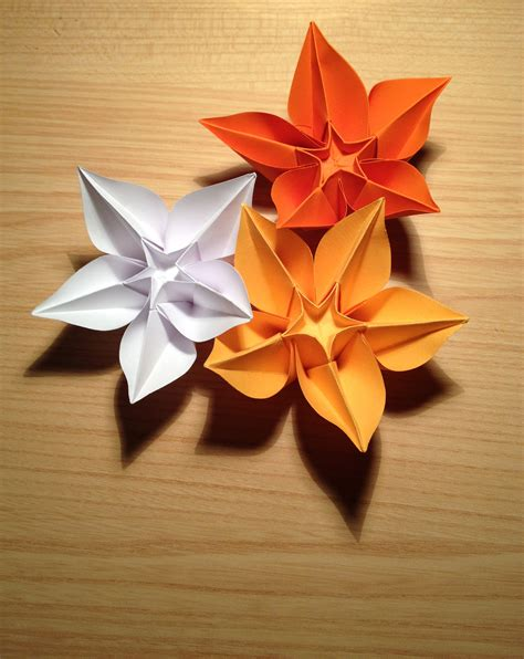 an origami flower file origami flower carambola jpg wikimedia commons
