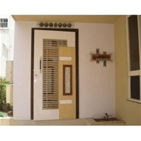 Home Exterior Design India Residence Houses safety door modern wooden safety door service provider