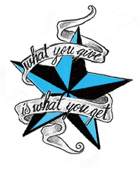 nautical star tattoo design not my design just edited