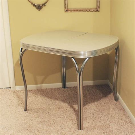vintage kitchen tables vintage kitchen dinette table formica top gray by
