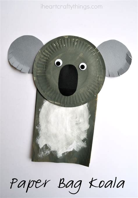 koala paper plate craft paper bag koala craft for i crafty things