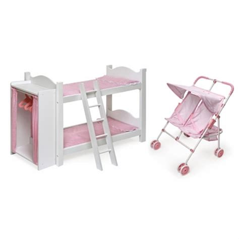 badger toys doll bunk beds badger basket doll bunk beds with ladder and storage and