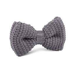 knitted bow tie light grey knitted bow tie knit bowties bowtie ties otaa