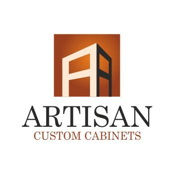 creative logo design for artisan custom cabinets