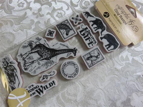 graphic 45 rubber sts graphic 45 safari adventure rubber cling st set 2