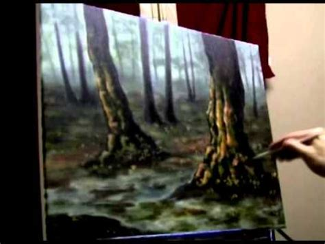 acrylic paint on canvas drying time mystical forest acrylic painting time lapse