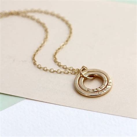 baby necklace personalised 9ct gold baby names necklace by posh totty