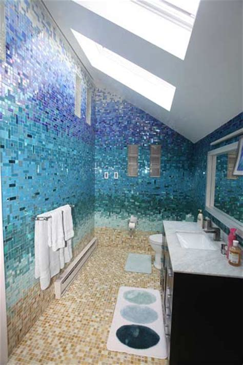mosaic tile designs bathroom glass tile bathroom photos at susan jablon
