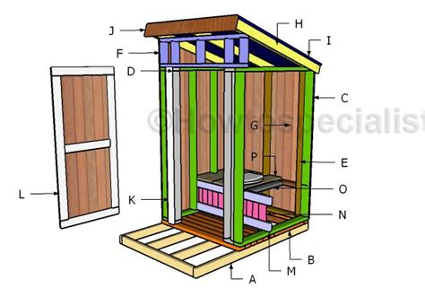 free building plans free outhouse plans howtospecialist how to build step